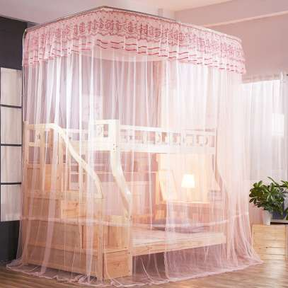 DOUBLE DECKER MOSQUITO NET(PINK)