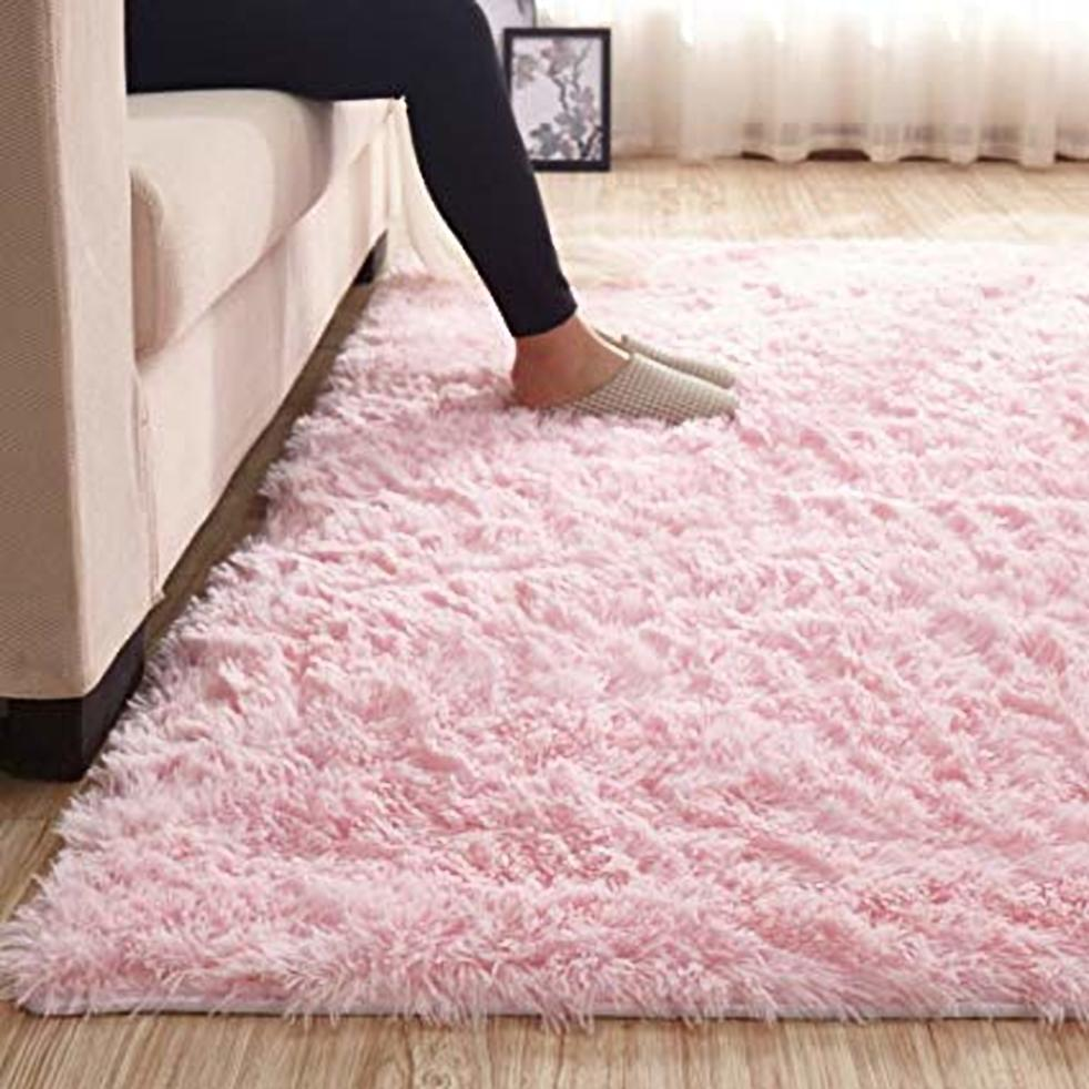 7*10 FLUFFY CARPET(BABY PINK)