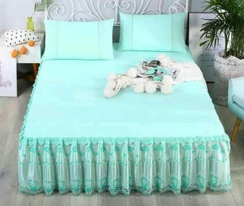 5*6 3PC BED SKIRT(Green)