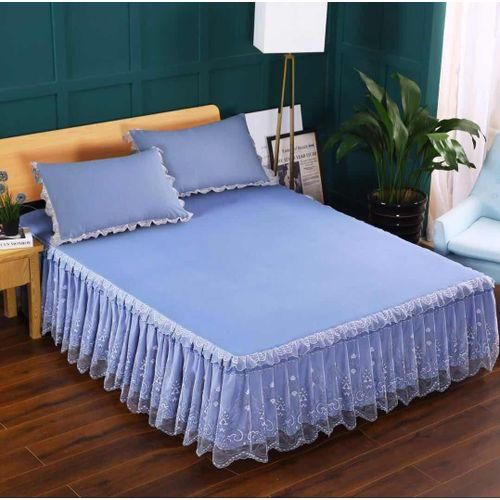6*6 3PC BED SKIRT(Blue)